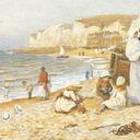 Helen Allingham, 'The Governess and the Ayah on the Beach'