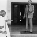 Jinnah and Gandhi in seemingly quarrelsome mood (New Delhi, 1940)